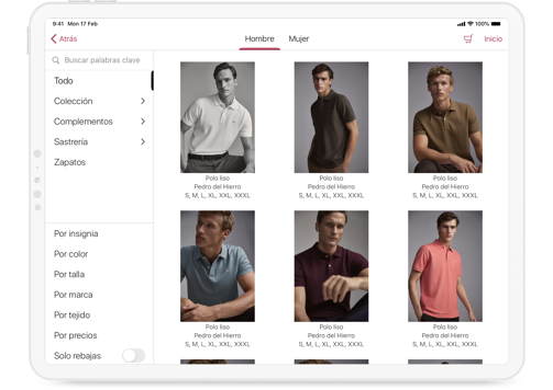 Cortefiel Catalogue iPad