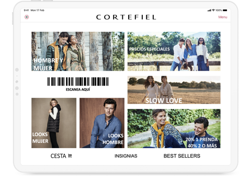 Cortefiel Landing iPad