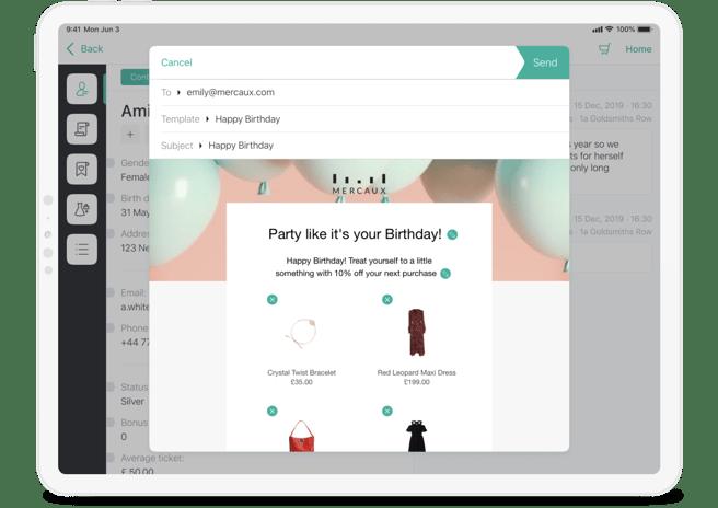 iPad_ Profile Landing • Product Email